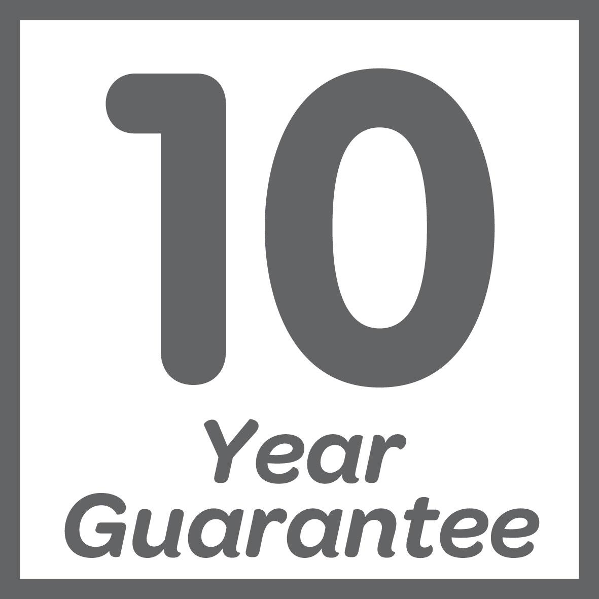 Guaranteed for 10 years