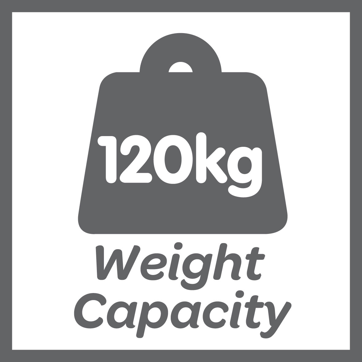 This product has a 120kg weight limit