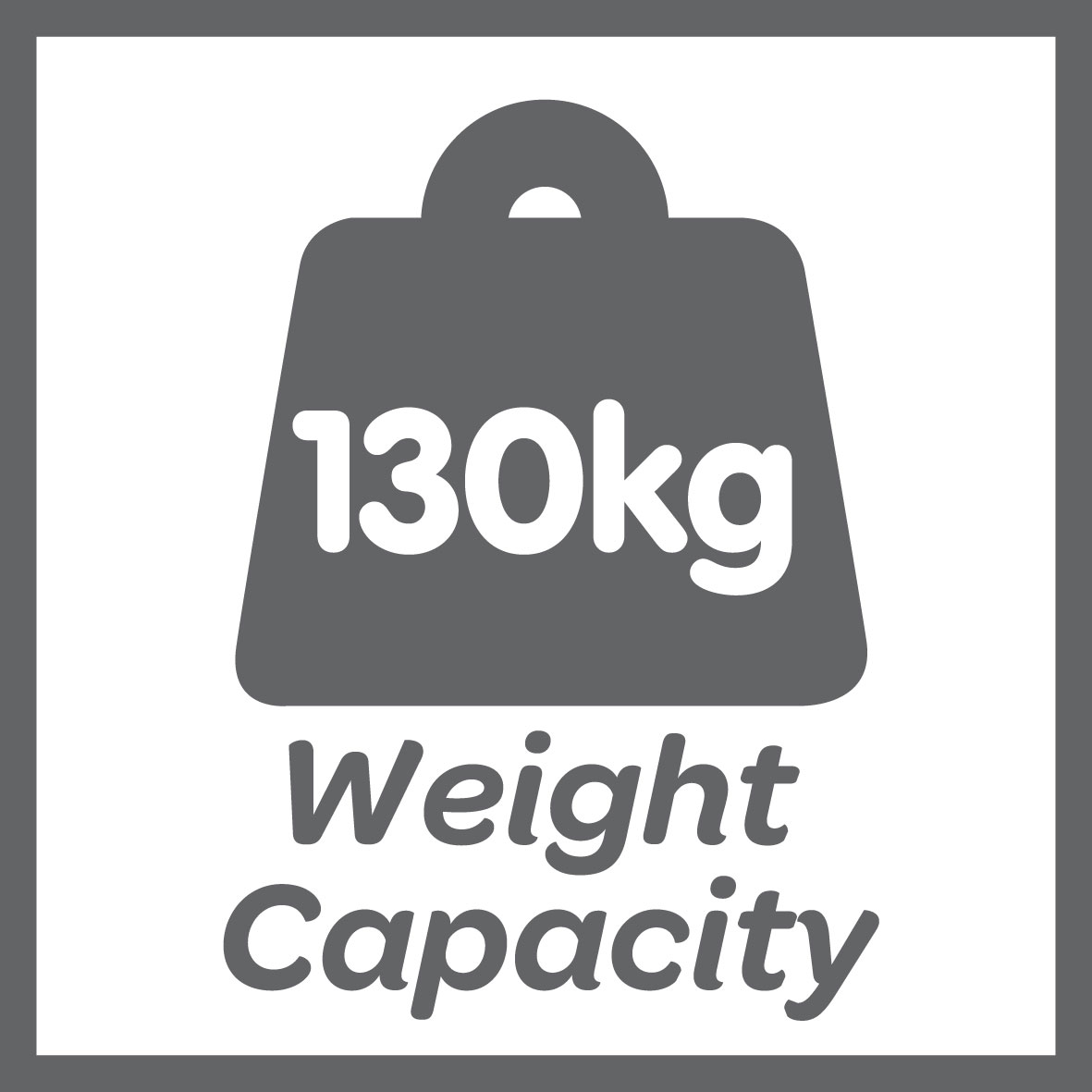 This product has a 130kg weight limit