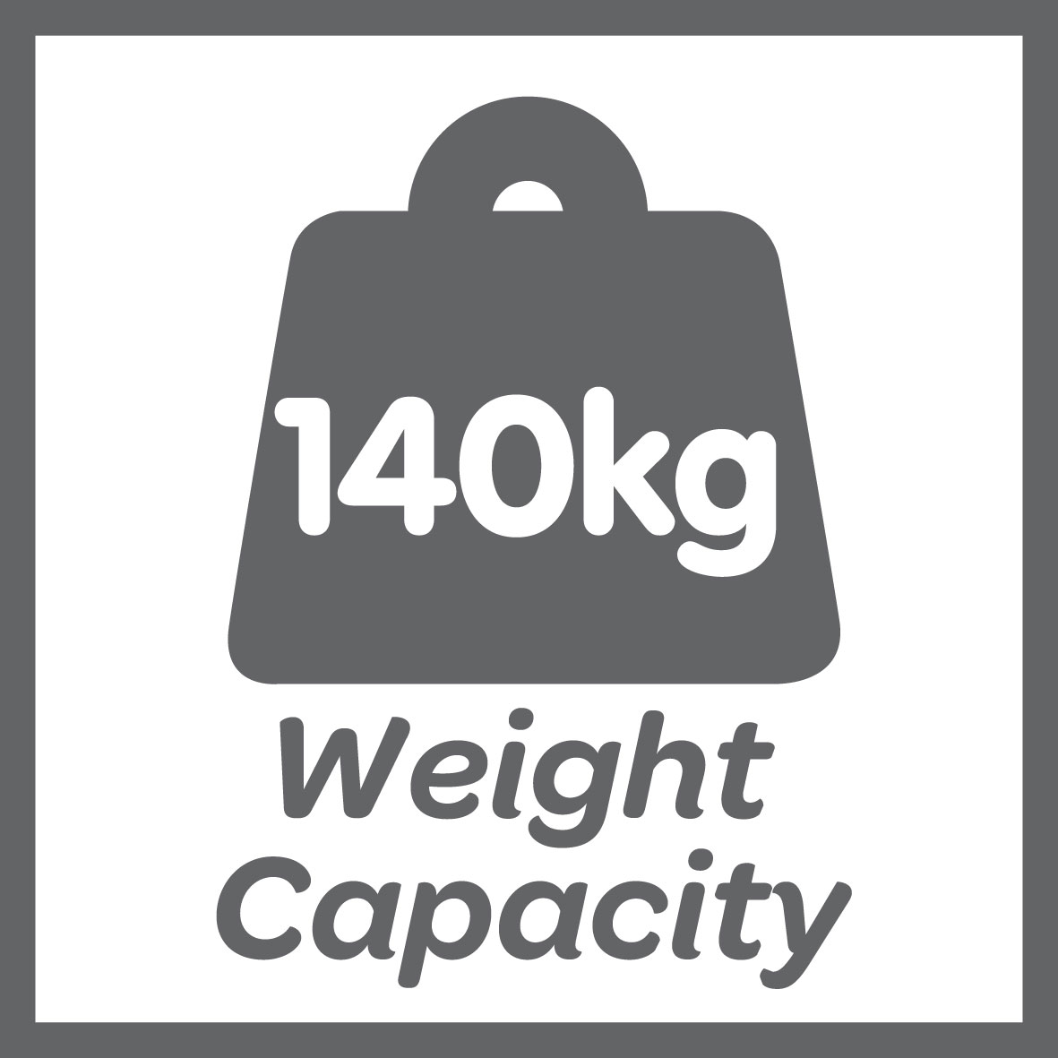 This product has a 140kg weight limit