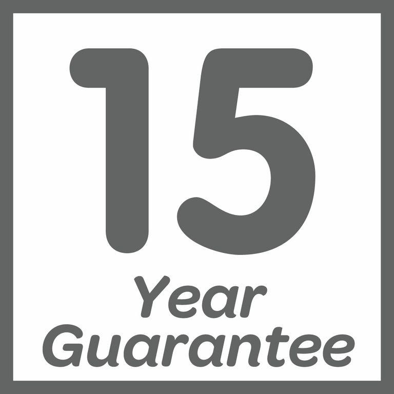Guaranteed for 15 years