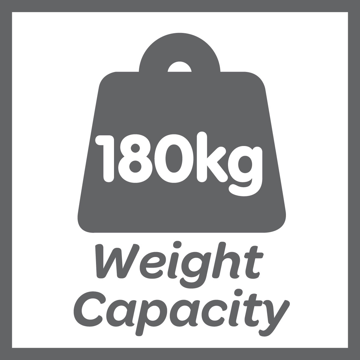 This product has a 180kg weight limit