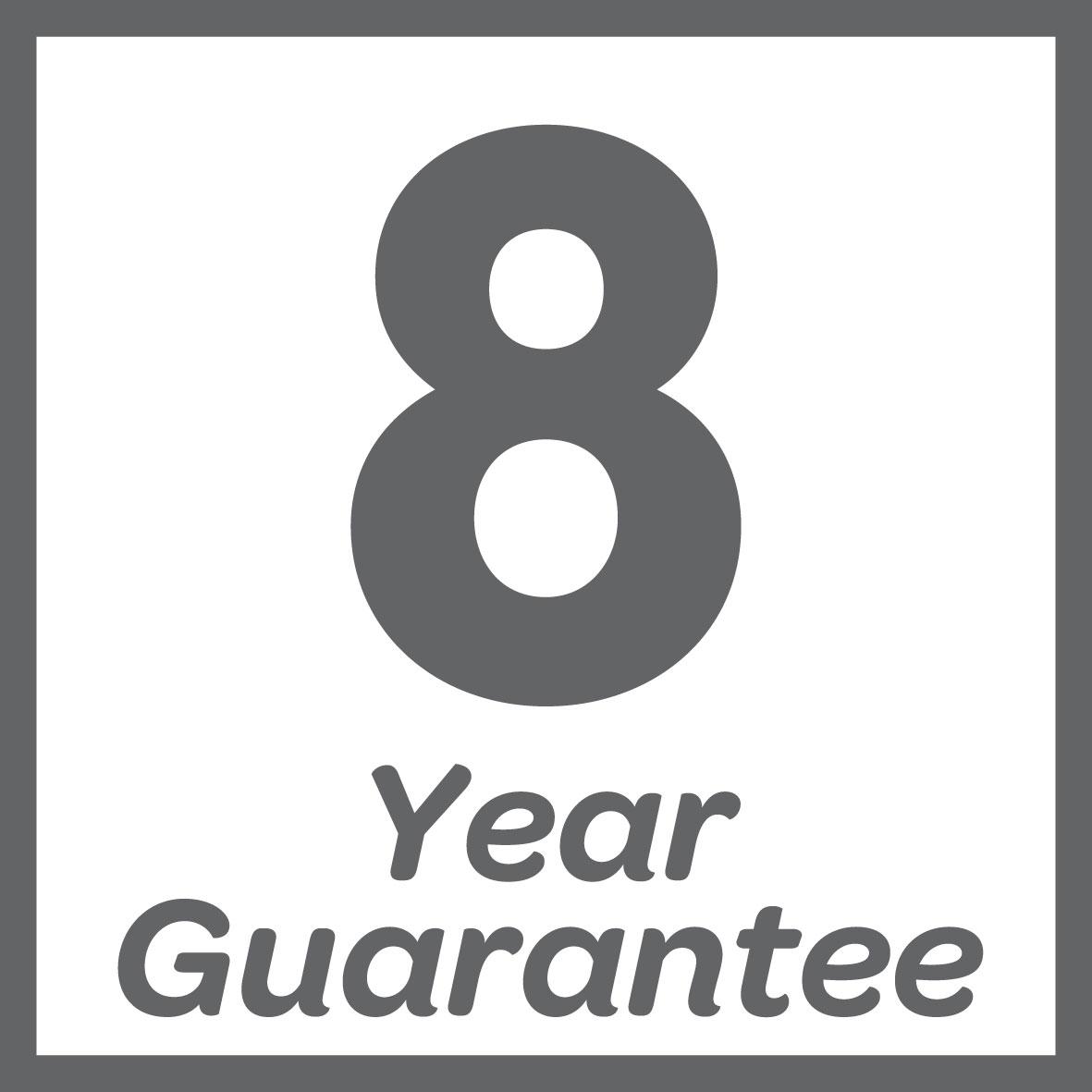 Guaranteed for 8 years