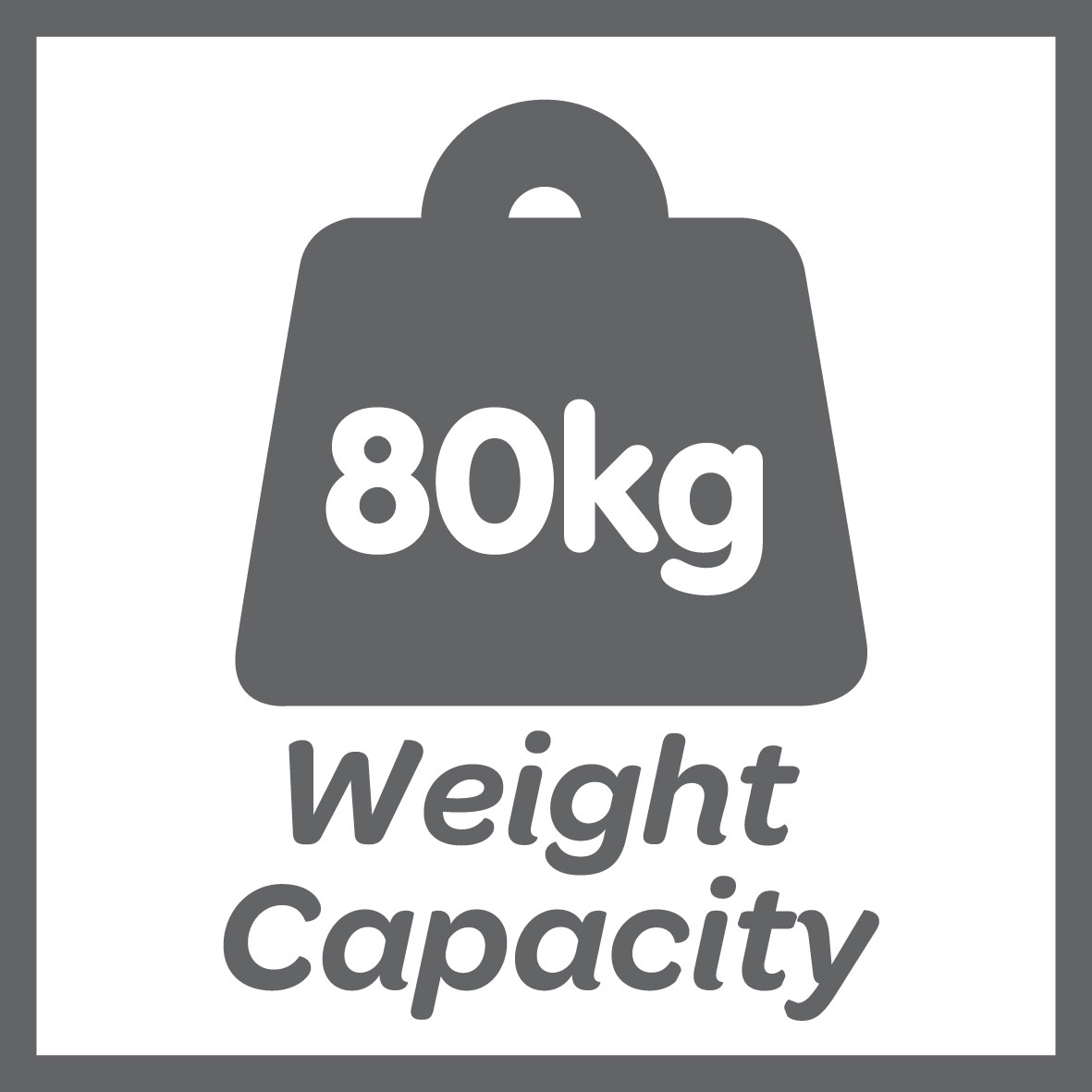 This product has a 80kg weight limit